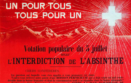 Interdiction de l'absinthe en 1910